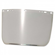 Face Shield Visor, Clear, Bound, Plastic/Aluminum, 3440-B-CL