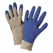 Premium Knit Gloves, W/Blue Latex Palm, Anchor 6030-L, 12 Pairs