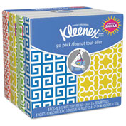 Kleenex® Facial Tissue Pocket Packs, 3-Ply, White, 10/pouch, 8 Pouches/Pack - 11974CT