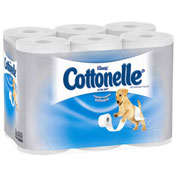 Cottonelle® Ultra Soft Bath Tissue, 1-Ply, 165 Sheets/Roll, 48/Carton - 12456