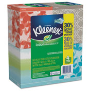 Kleenex® Lotion Facial Tissue, 2-Ply, 75 Sheets/Box, 4 Box/Pack - 25834