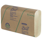 Scott® Multi-Fold Paper Towels, 9-2/5 x 9-1/5, Soft Wheat, 250/Pack, 16 Pack/Carton - 43751