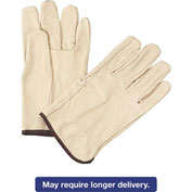 4000 Series Pigskin Leather Driver Gloves, Anchor 4900L, 12 Pairs