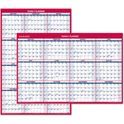 AT-A-GLANCE® Erasable Vertical/Horizontal Wall Planner, 32 x 48, Blue/Red, 2017