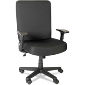 Alera Plus™ Big and Tall Task Chair with Arms - Fabric - High Back - Black - XL Series