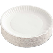 "AJM Packaging Corporation Coated Paper Plates, 9"", White, Round"