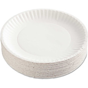 "AJM Packaging Corporation Uncoated Paper Plates, 9"", White, Round"