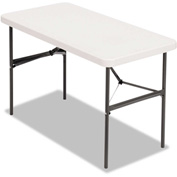 Alera® Plastic Banquet Folding Table, Rectangular, Radius Edge, 48 x 24 x 29