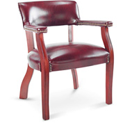 Alera® Guest Chair with Arms -Vinyl - Oxblood