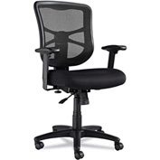 Alera® Mesh Chair with Swivel/Tilt - Fabric - Mid Back - Black - Elusion Series