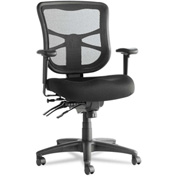 Alera® Multifunction Mesh Chair - Fabric - Mid Back - Black - Elusion Series