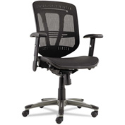 Alera® Multifunction Mesh Office Chair - Mid-Back - Black - Eon Series