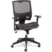 Alera® Mesh Multifunction Office Chair - Mid-Back - Black - Epoch Series
