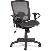 Alera® Synchro Mesh Office Chair - Fabric - Mid Back - Black - Etros Series