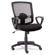 Alera® Mesh Office Chair with Swivel/Tilt - Fabric - Mid Back - Black - Etros Series