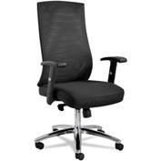 Alera® Mesh Multifunction Chair - Fabric - Black - EY Series