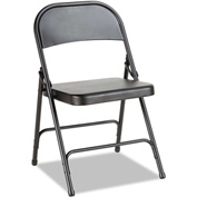 Alera® Steel Folding Chair - Black - 4/Carton