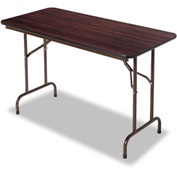 Alera® Folding Table, Rectangular, 48w x 24d x 29h, Walnut