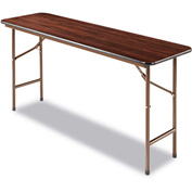 Alera® Folding Table, Rectangular, 60w x 18d x 29h, Walnut