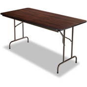 Alera® Folding Table, Rectangular, 60w x 30d x 29h, Walnut