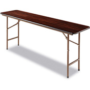 Alera® Laminate Folding Table, Rectangular, 72w x 18d x 29h, Walnut
