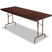 Alera® Laminate Folding Table, Rectangular, 72w x 30d x 29h, Walnut