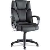 Alera® Fraze High-Back Swivel/Tilt Chair, Black Leather