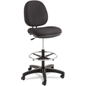 Alera® Swivel Task Stool - Fabric - Black