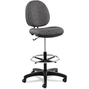 Alera® Swivel Task Stool - Fabric - Gray