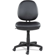 Alera® Interval Swivel/Tilt Task Chair, Soft-Touch Leather, Black