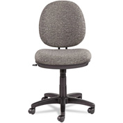 Alera® Interval Swivel/Tilt Task Chair, 100% Acrylic W/Tone-On-Tone Pattern, Gray