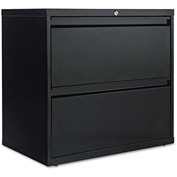 Alera® Two-Drawer Lateral File Cabinet, 30w x 19-1/4d x 29h, Black