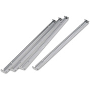 "Alera HPLSRAIL Two Row Hangrails for 30"" or 36"" Files, Aluminum"