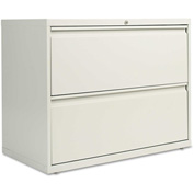 Alera® Two-Drawer Lateral File Cabinet, 36w x 19-1/4d x 29h, Light Gray