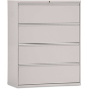 Alera® Four-Drawer Lateral File Cabinet, 42w x 19-1/4d x 54h, Light Gray
