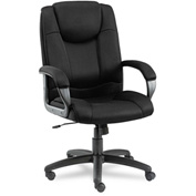Alera® Logan Series Mesh High-Back Swivel/Tilt Chair, Black