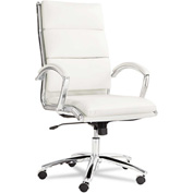 Alera® Neratoli High Back Swivel Chair - Synthetic Leather -  White