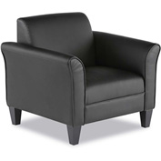 Alera® Reception Club Chair - Leather - Black