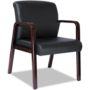 Alera® Reception Guest Chair (Unassembled) - Leather - Black