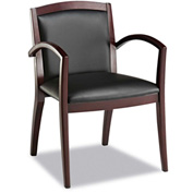 Alera® Reception Guest Chair Leather - Black