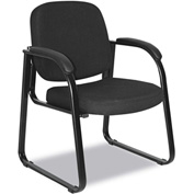 Alera® Reception Guest Chair - Fabric - Black