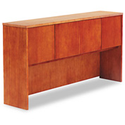 "Alera ALERN267215CM Verona Veneer Series Storage Hutch With 4 Doors, 72""W x 15""D x 36""H, Cherry"
