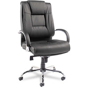 Alera® Ravino Big and Tall Swivel Chair - Leather - High Back - Black