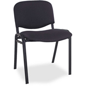 Alera® Stacking Chairs - Fabric - Black - 4/Carton - Continental Series