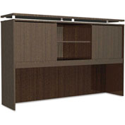 "Alera Hutch with Sliding Doors - 66""W x 15""D x 42-1/2""H - Espresso - SedinaAG Series"