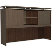 "Alera Hutch with Sliding Doors - 72""W x 15""D x 42-1/2""H - Espresso - SedinaAG Series"
