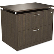 Alera® SedinaAG Series Two-Drawer Lateral File, 34-1/4w x 22d x 29-1/2h, Espresso
