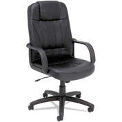 Alera® Sparis Executive Swivel Chair - High Back -  Leather - Black