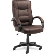 Alera® Executive Office Chair with Swivel/Tilt - Leather - High Back - Brown - Strada Series