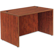 Alera Desk Shell with Straight Front - 47-1/4 x 29-1/2 x 29-1/2 - Med Cherry - Valencia Series